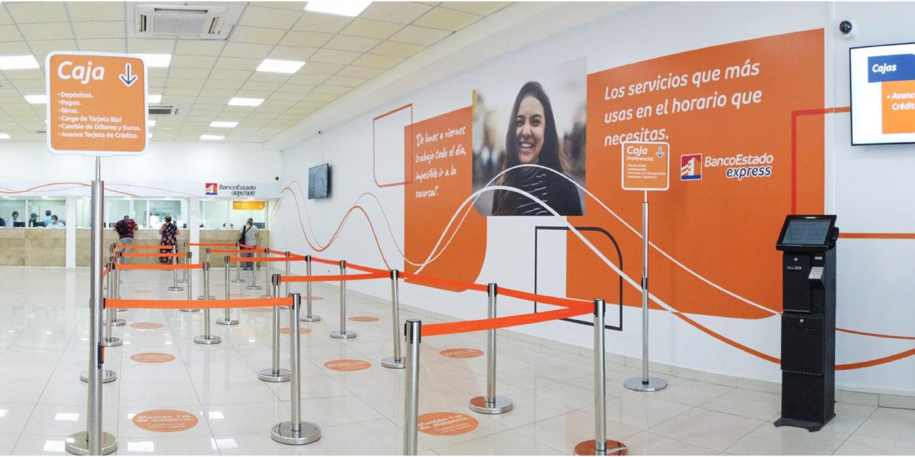BancoEstado Express - Identidad visual interior